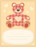 Card with the teddy bear for baby shower 2 Stock Images