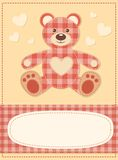 Card with the teddy bear for baby shower 3 Royalty Free Stock Photos