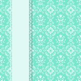 Card tempate. Card template with seamless pattern vector illustration