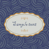 Card template with abstract elements Stock Image