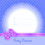 Card template for Baby Shower Royalty Free Stock Photo