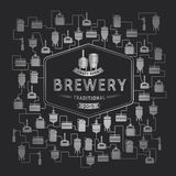 Card template with beer brewery element. Vector Royalty Free Stock Images