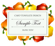 Card template with bellpeppers background Stock Photo