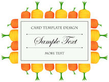 Card template with colorful carrots Stock Image