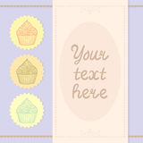 Card template with cupcakes Royalty Free Stock Image