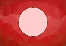 Card template for design. Ornate page cover, polygonal pattern template for design Stock Image