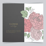 Card template with floral Stock Photo
