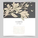 Card template with floral Stock Photos