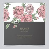 Card template with floral Stock Image