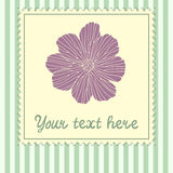 Card template with flower Royalty Free Stock Images