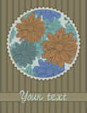 Card template with flowers pattern Stock Image