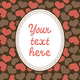 Card template with hearts Stock Images