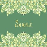 Card template for print design. Ethnic paisley Royalty Free Stock Photography