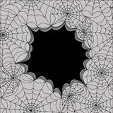 Card template with spiders web, seamless. Vector Stock Photos