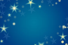 Card template with stars and space for your text. Stock Image