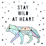 Card template. Stay wild at heart. Royalty Free Stock Photography
