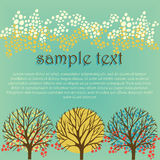 Card template with trees Stock Image