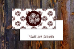 Free Card Template With Seamless Pattern And Floral Stock Image - 54751841