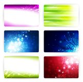 Card templates. Gift or credit card templates, size 3 3/8 x 2 1/8 (86 x 54 mm Royalty Free Stock Photo