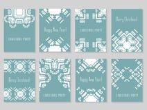 Card templates set stock images
