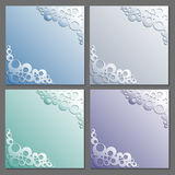 Card templates set. Paper frame. Rings pattern with shadow. Vector eps10 Stock Photos