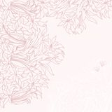 Card with tender pink flowers Royalty Free Stock Photo