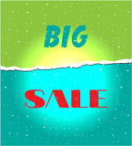 Card with text Big sale Royalty Free Stock Image