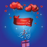 Card with the text Happy valentines day Royalty Free Stock Image
