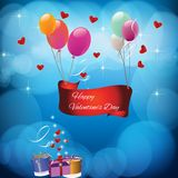 Card with the text Happy valentines day Stock Photography