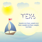 Card with text vector illustrations Stock Images