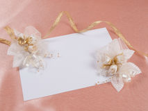 Card for text and weddings accessories Royalty Free Stock Image