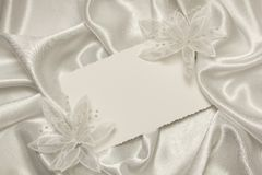 Card for text and weddings accessories Stock Photos