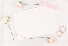 Card for text and weddings accessories Stock Images