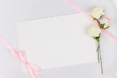 Card for text and weddings accessories Stock Image