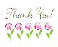 Card thank you! vector stock illustration