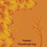 Card for thankgiving day Vector Illustration