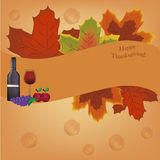 Card for thanksgiving day Stock Photography