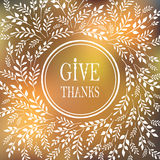 Card for Thanksgiving Day Royalty Free Stock Photography