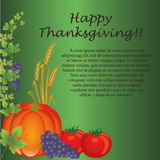 Card for thanksgiving day Royalty Free Stock Photo