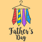 Card with tie for father day. Vector art Royalty Free Stock Photos