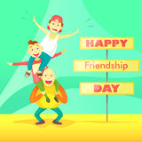 Card to the day of friendship. Stock Photo