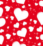 Card to the Valentine's day. Red valentine's day background Stock Image