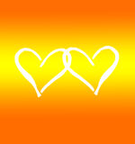 Card to the Valentine's day. Orange valentine's day background Stock Image