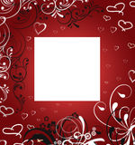 Card to the Valentine's day. Red valentine's day background Royalty Free Stock Images