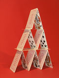 Card Tower. Card Building royalty free stock image