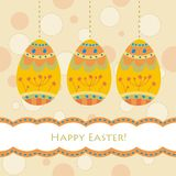 Card with traditional eggs Royalty Free Stock Images
