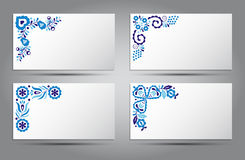 Card of traditional folk patterns. Vector card of traditional folk patterns stock illustration