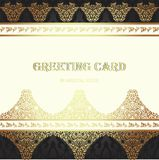Card in traditional oriental style. Royalty Free Stock Images