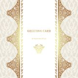 Card in traditional oriental style. Royalty Free Stock Photos