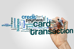 Card transaction word cloud. Concept Royalty Free Stock Image